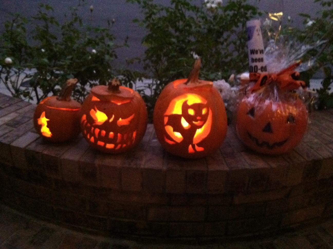 pumpkins aglow